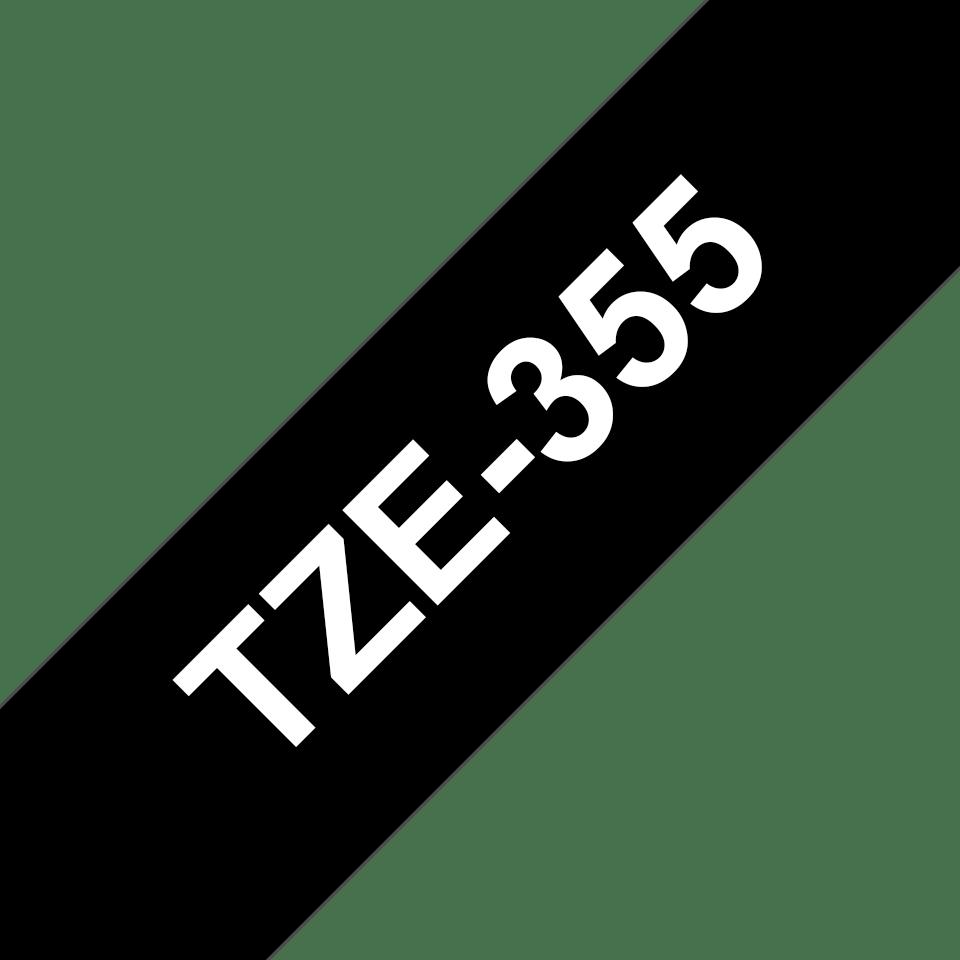 Cassetta nastro per etichettatura originale Brother TZe-355 – Bianco su nero, 24 mm di larghezza 3