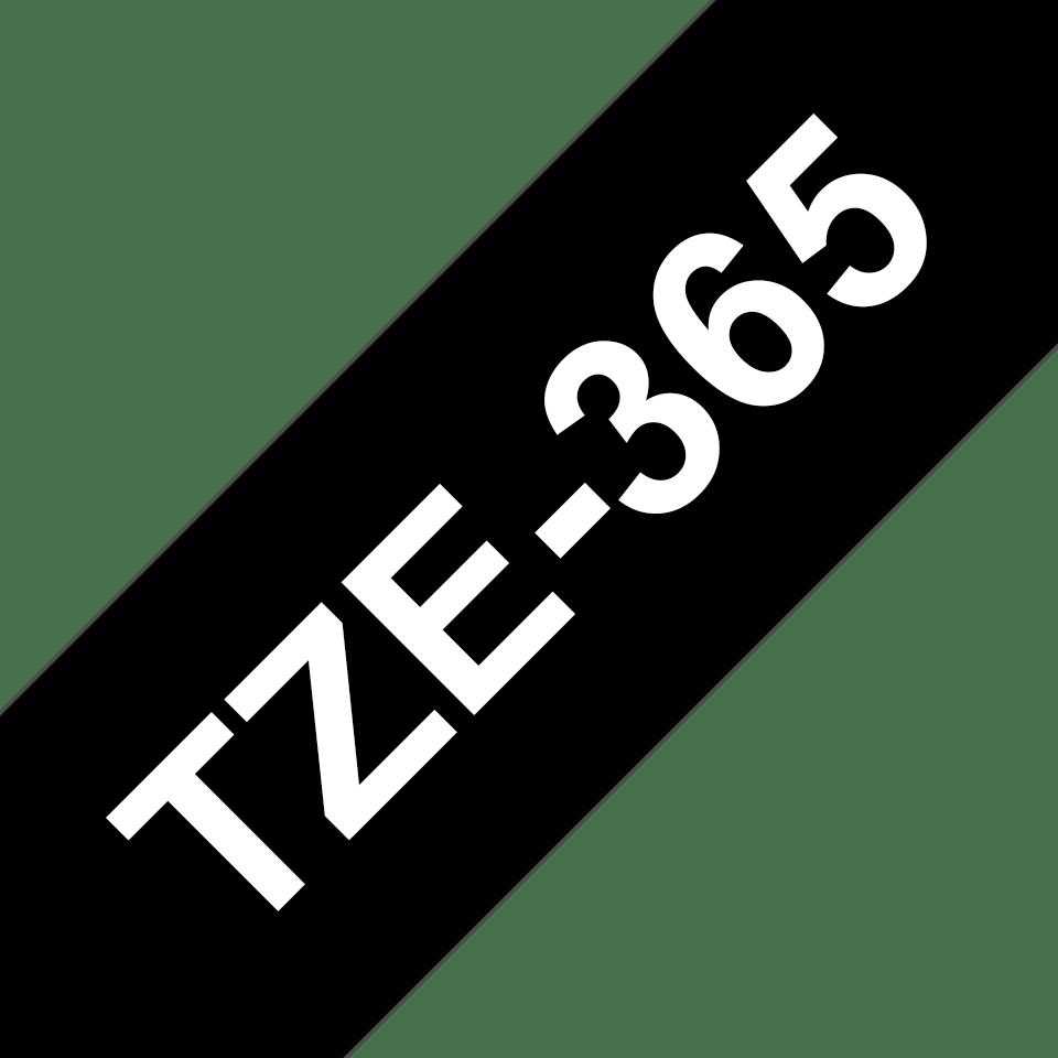 Cassetta nastro per etichettatura originale Brother TZe-365 – Bianco su nero, 36 mm di larghezza 3