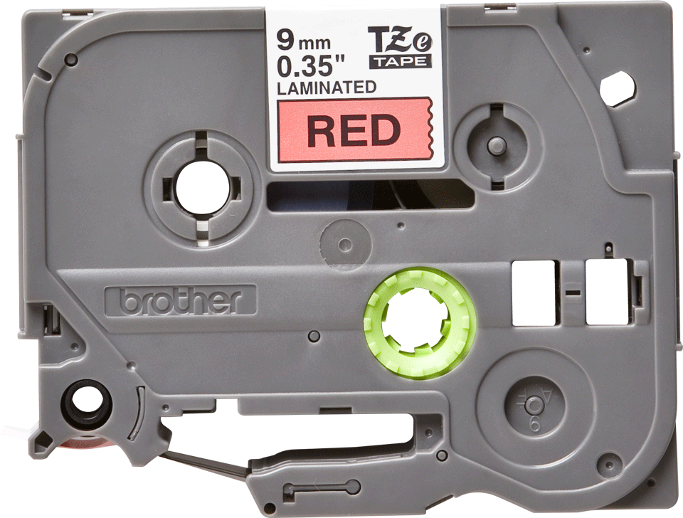 Cassetta nastro per etichettatura originale Brother TZe-421 – Nero su rosso, 9 mm di larghezza