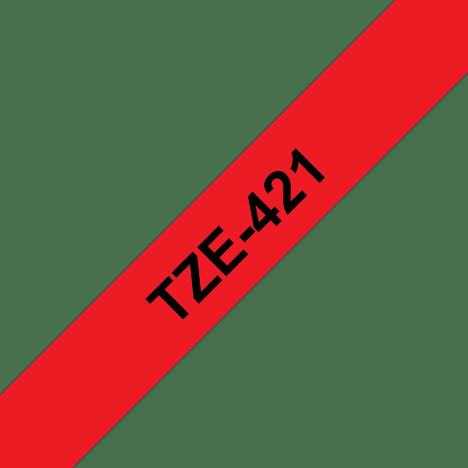 Cassetta nastro per etichettatura originale Brother TZe-421 – Nero su rosso, 9 mm di larghezza 3