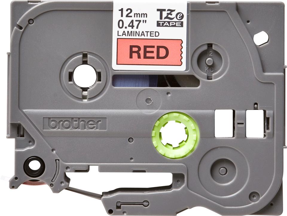 Cassetta nastro per etichettatura originale Brother TZe-431 – Nero su rosso, 12 mm di larghezza