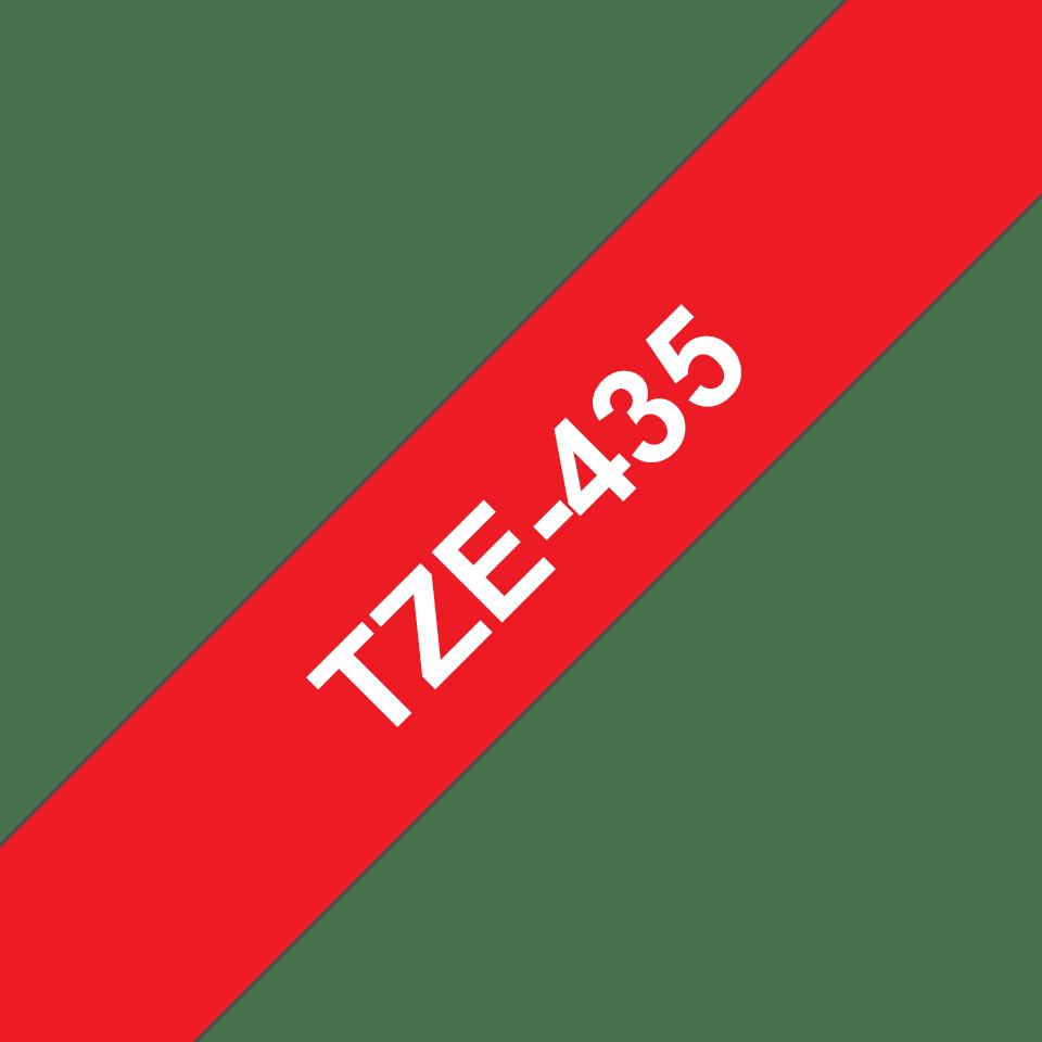 Cassetta nastro per etichettatura originale Brother TZe-435 – Bianco su rosso, 12 mm di larghezza 3
