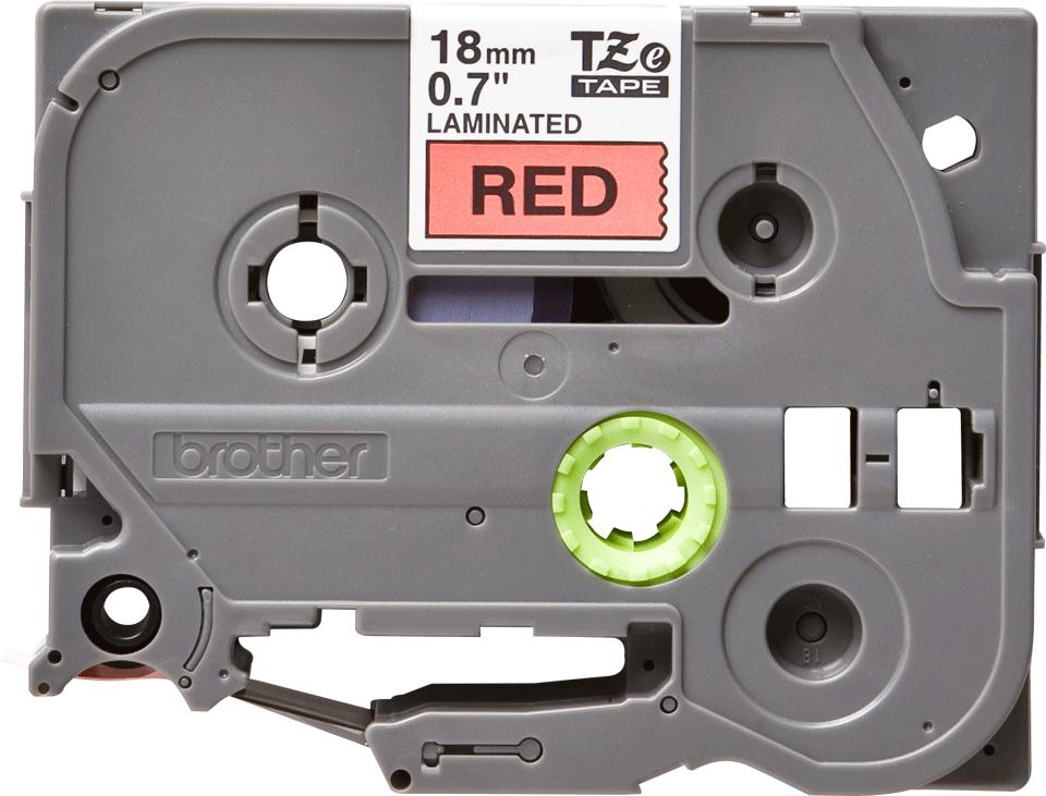 Cassetta nastro per etichettatura originale Brother TZe-441 – Nero su rosso, 18 mm di larghezza