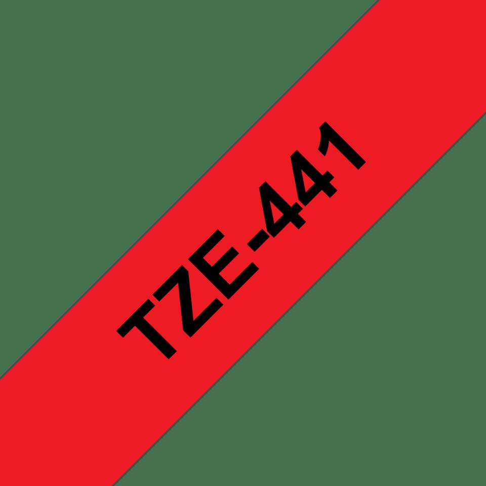 Cassetta nastro per etichettatura originale Brother TZe-441 – Nero su rosso, 18 mm di larghezza 3