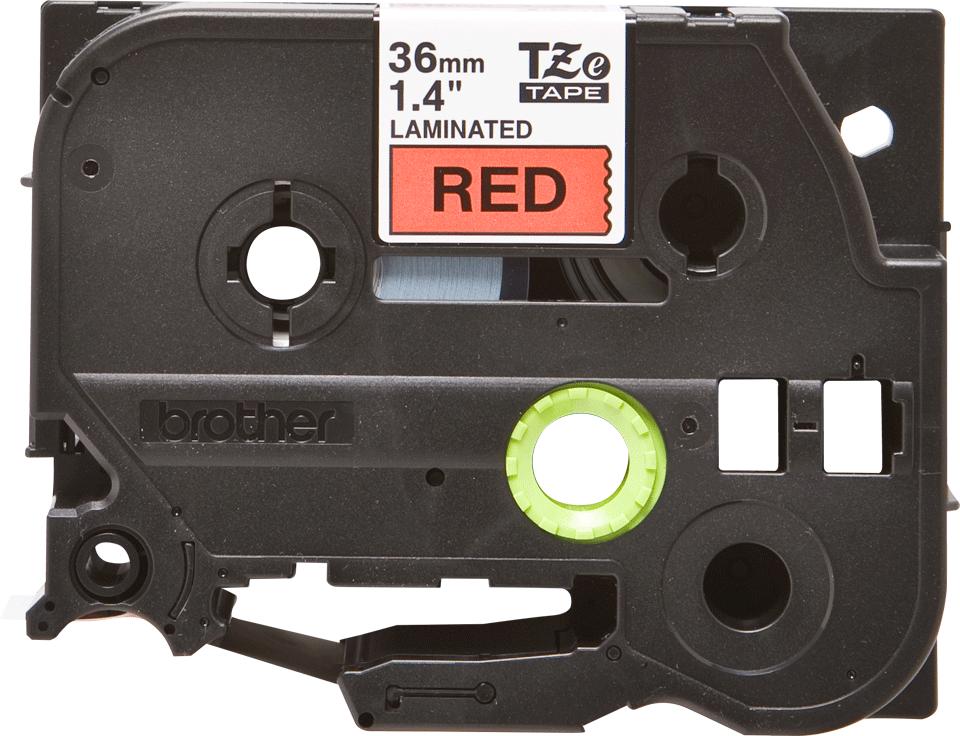 Cassetta nastro per etichettatura originale Brother TZe-461 – Nero su rosso, 36 mm di larghezza