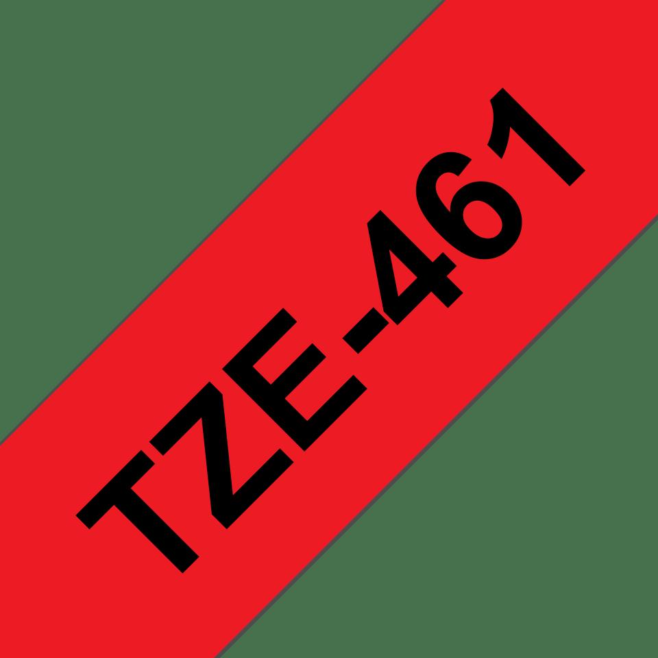 Cassetta nastro per etichettatura originale Brother TZe-461 – Nero su rosso, 36 mm di larghezza 3