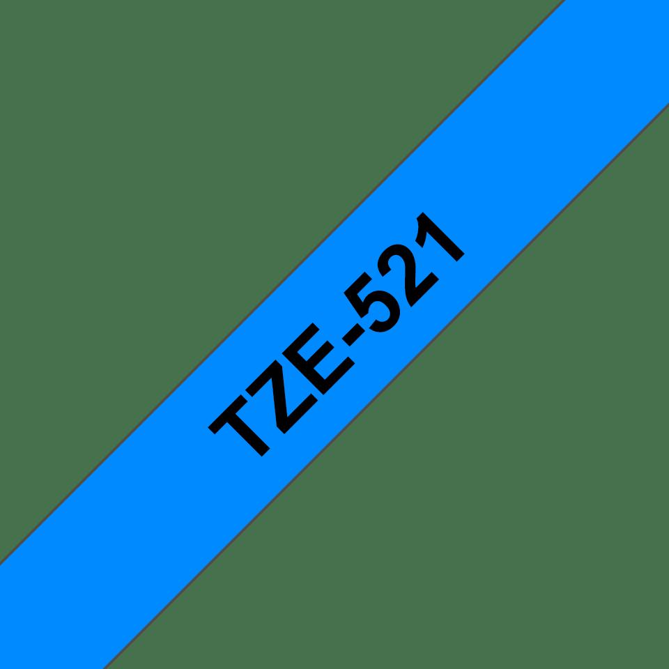 Cassetta nastro per etichettatura originale Brother TZe-521 – Nero su blu, 9 mm di larghezza 3