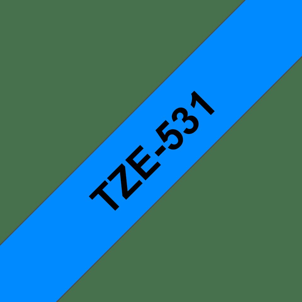 Cassetta nastro per etichettatura originale Brother TZe-531 – Nero su blu, 12 mm di larghezza 3