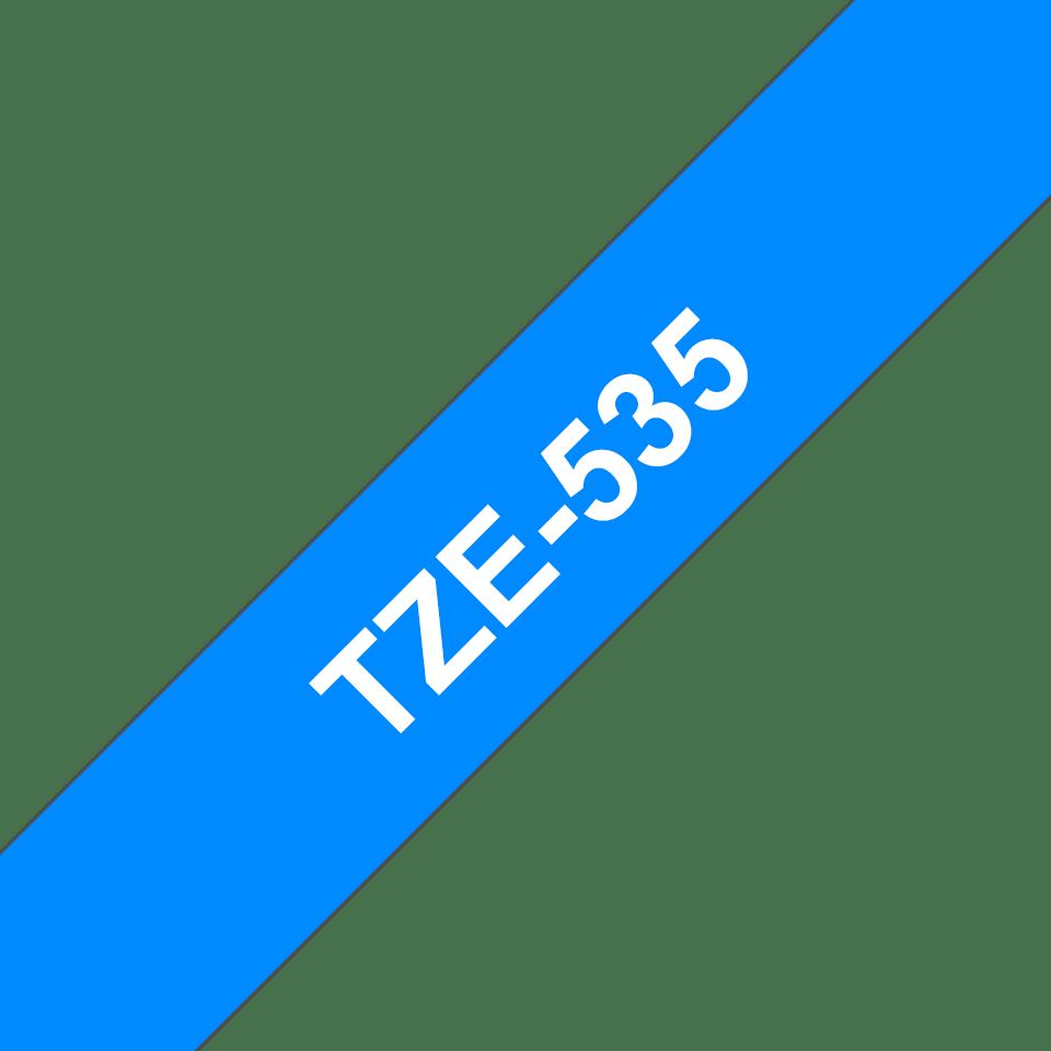Cassetta nastro per etichettatura originale Brother TZe-535 – Bianco su blu, 12 mm di larghezza 3