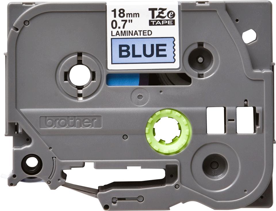 Cassetta nastro per etichettatura originale Brother TZe-541 – Nero su blu, 18 mm di larghezza 0