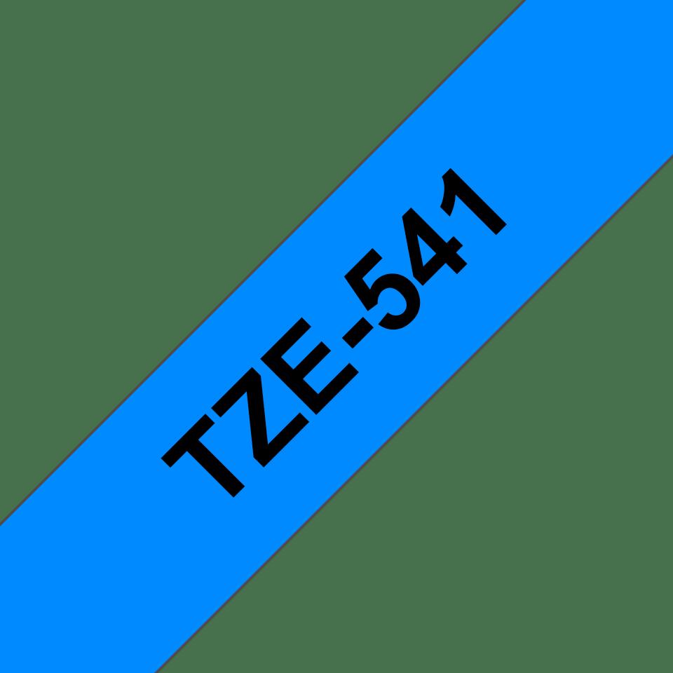 Cassetta nastro per etichettatura originale Brother TZe-541 – Nero su blu, 18 mm di larghezza 2