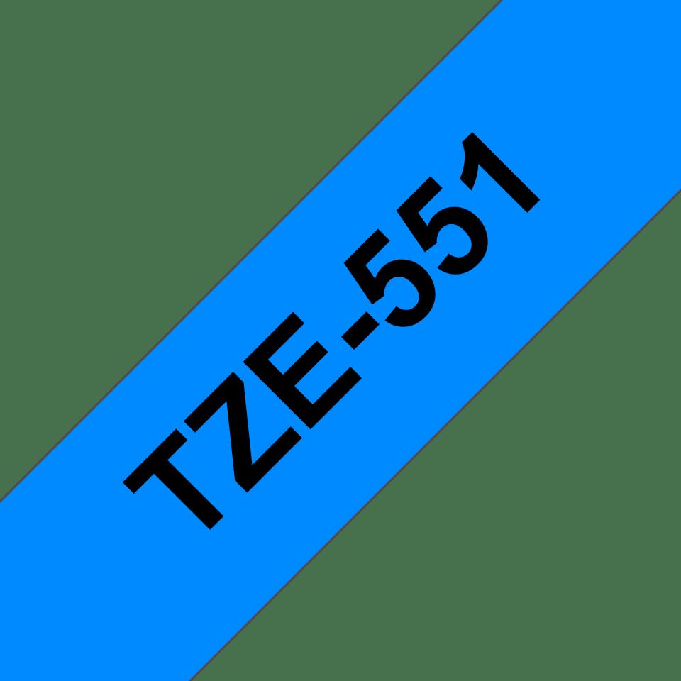 Cassetta nastro per etichettatura originale Brother TZe-551 – Nero su blu, 24 mm di larghezza 3