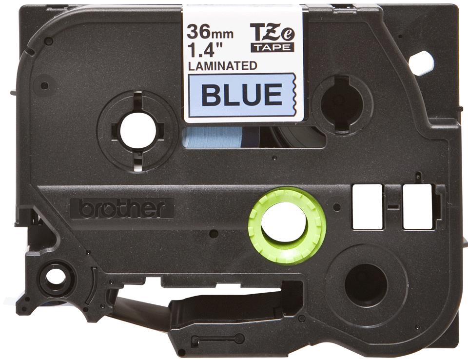 Cassetta nastro per etichettatura originale Brother TZe-561 – Nero su blu, 36 mm di larghezza 0