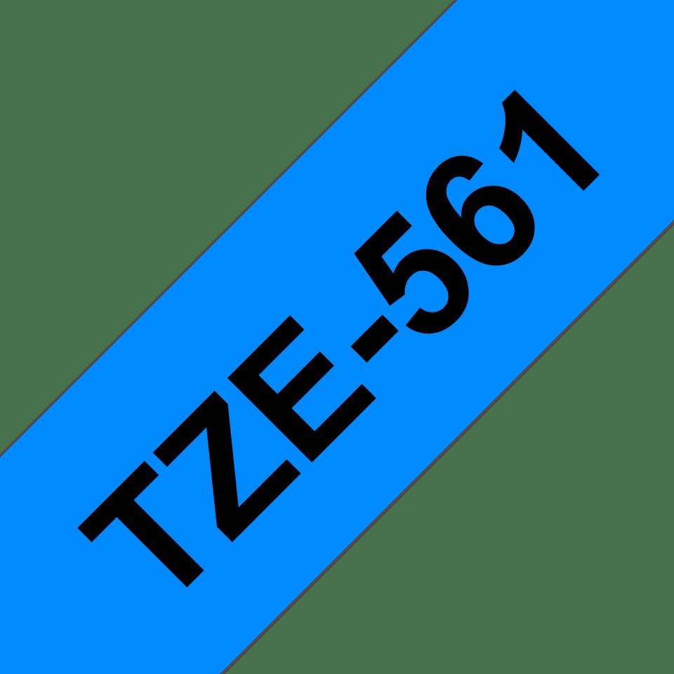 Cassetta nastro per etichettatura originale Brother TZe-561 – Nero su blu, 36 mm di larghezza 2