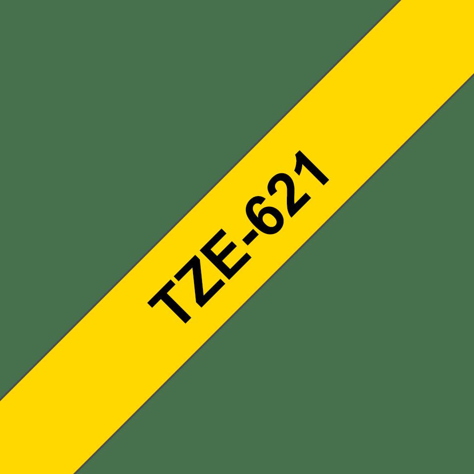 Cassetta nastro per etichettatura originale Brother TZe-621 – Nero su giallo, 9 mm di larghezza 3