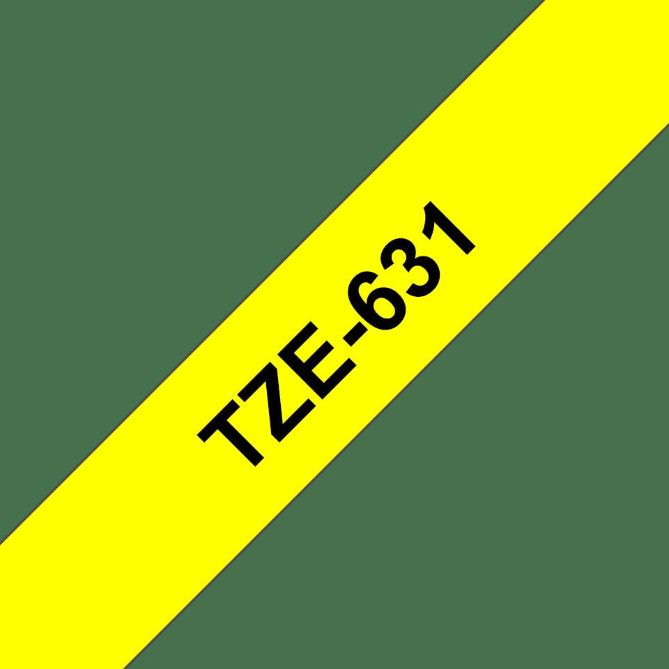 Brother TZe-631 Nastro originale per etichettatrici, 12 mm - nero su giallo 3