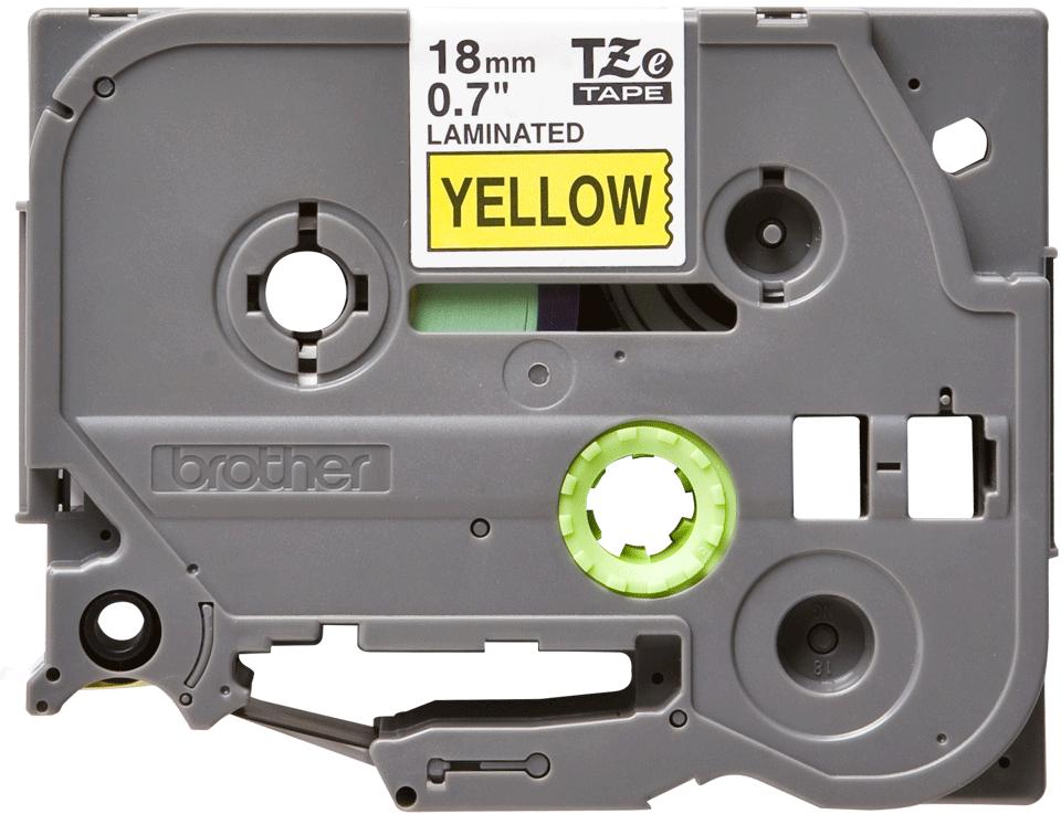 Cassetta nastro per etichettatura originale Brother TZe-641 – Nero su giallo, 18 mm di larghezza