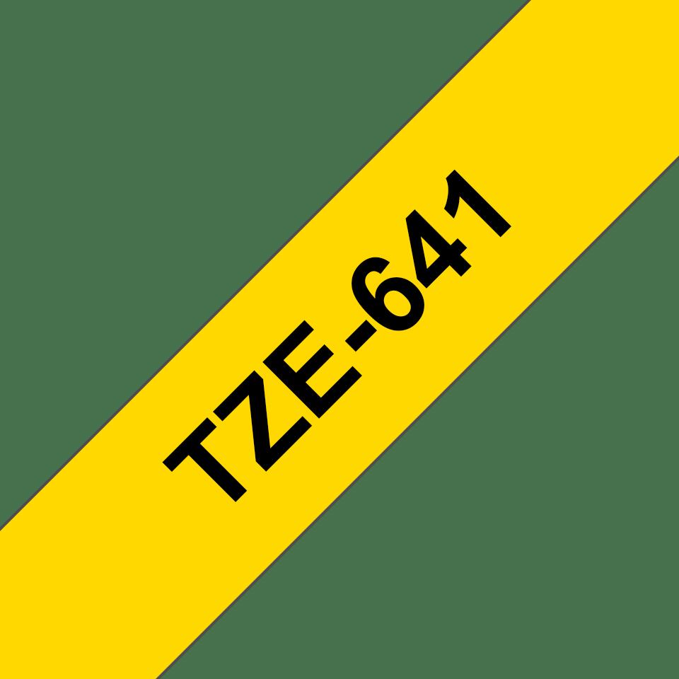 Cassetta nastro per etichettatura originale Brother TZe-641 – Nero su giallo, 18 mm di larghezza 3