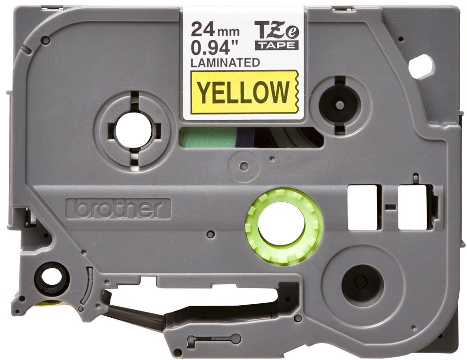 Cassetta nastro per etichettatura originale Brother TZe-651 – Nero su giallo, 24 mm di larghezza 0