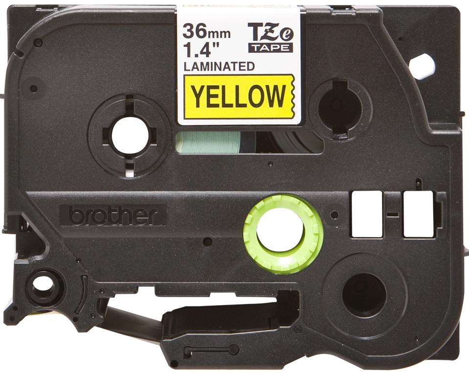 Cassetta nastro per etichettatura originale Brother TZe-661 – Nero su giallo, 36 mm di larghezza