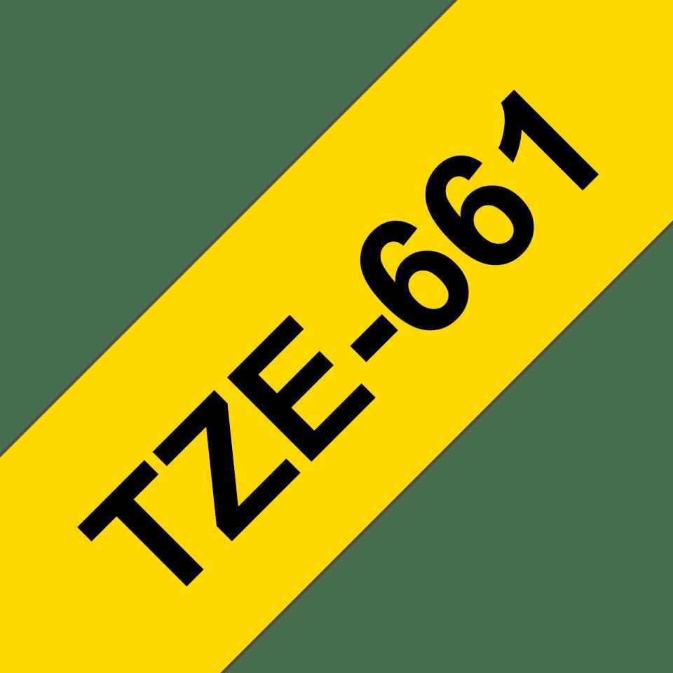 Cassetta nastro per etichettatura originale Brother TZe-661 – Nero su giallo, 36 mm di larghezza 3