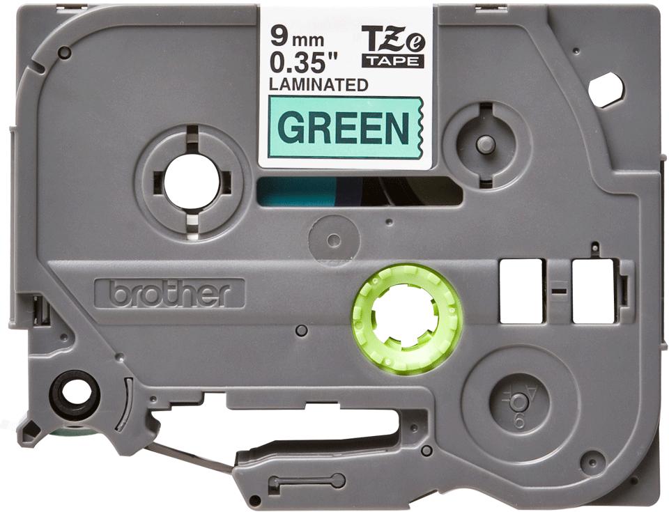 Cassetta nastro per etichettatura originale Brother TZe-721 – Nero su verde, 9 mm di larghezza 0