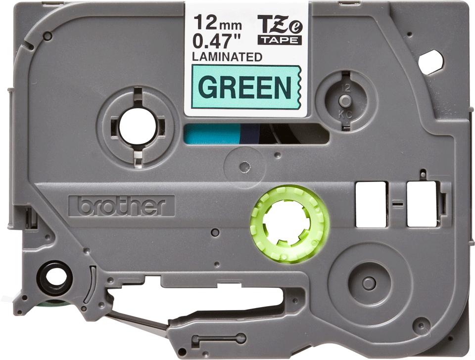 Cassetta nastro per etichettatura originale Brother TZe-731 – Nero su verde, 12 mm di larghezza