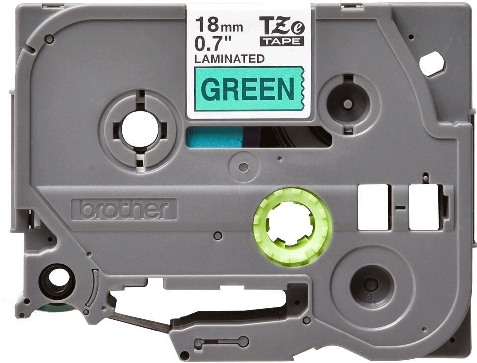 Cassetta nastro per etichettatura originale Brother TZe-741 – Nero su verde, 18 mm di larghezza 0