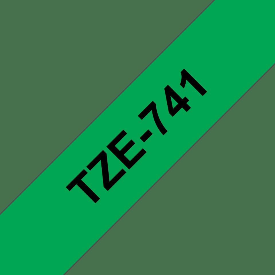 Cassetta nastro per etichettatura originale Brother TZe-741 – Nero su verde, 18 mm di larghezza 3
