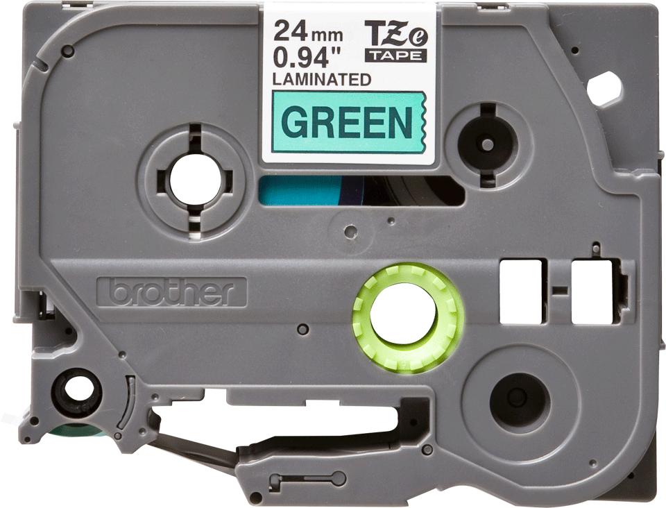 Cassetta nastro per etichettatura originale Brother TZe-751 – Nero su verde, 24 mm di larghezza
