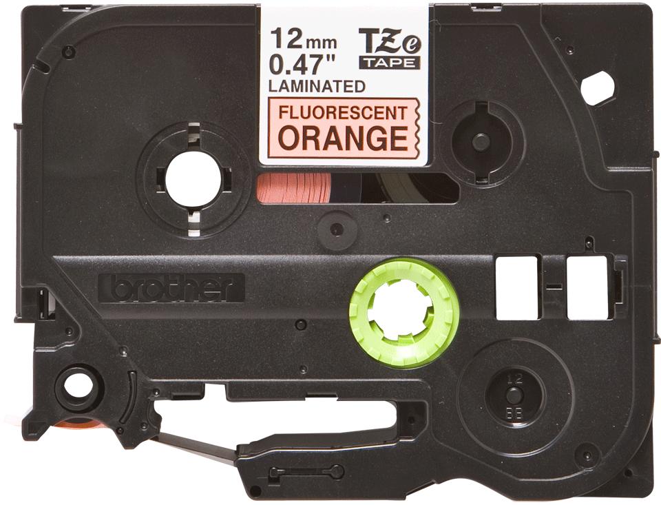 Brother TZe-B31 Nastro laminato da 12 mm – arancione fluorescente