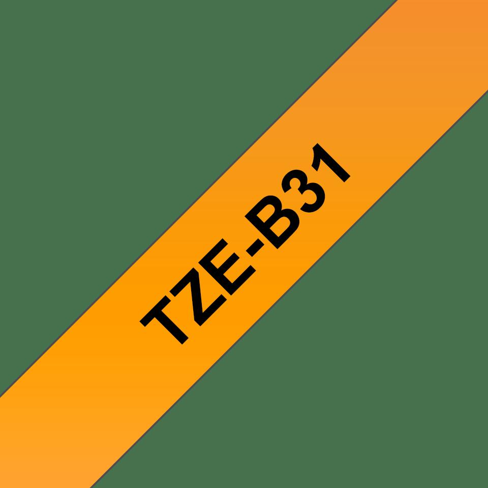 Brother TZe-B31 Nastro laminato da 12 mm – arancione fluorescente 3