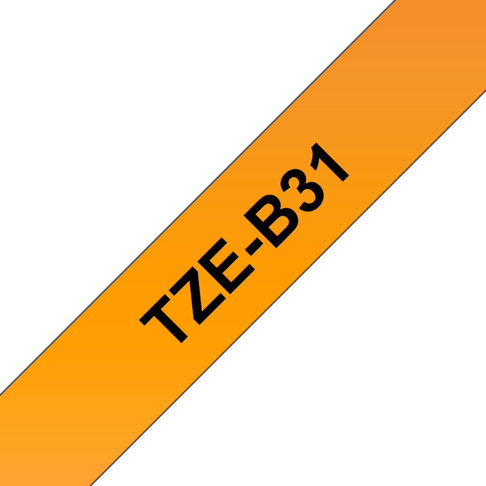 Brother TZe-B31 Nastro laminato da 12 mm – arancione fluorescente 3