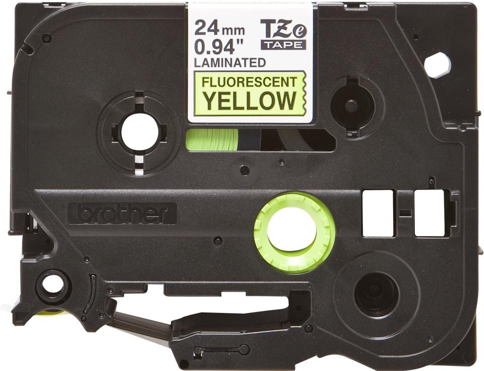 Cassetta nastro per etichettatura originale Brother TZe-C51 – Nero su giallo fluorescente, 24 mm di larghezza