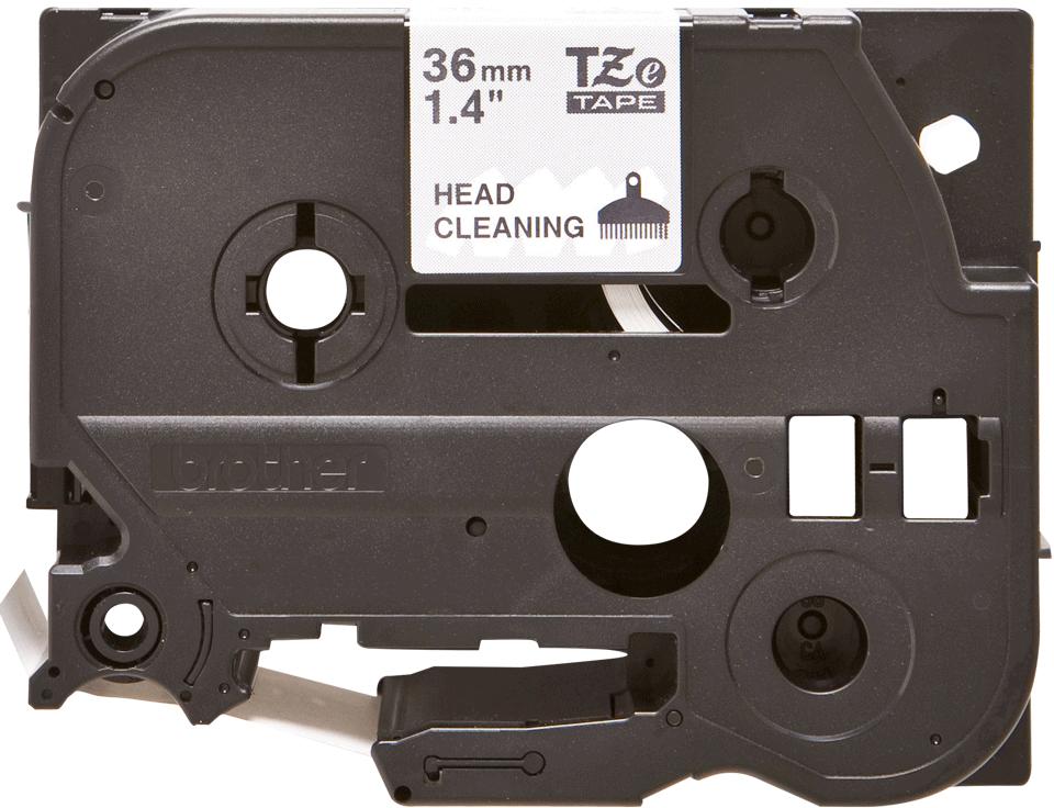Cassetta nastro di pulizia della testina di stampa Brother TZe-CL6 – 36 mm di larghezza 0