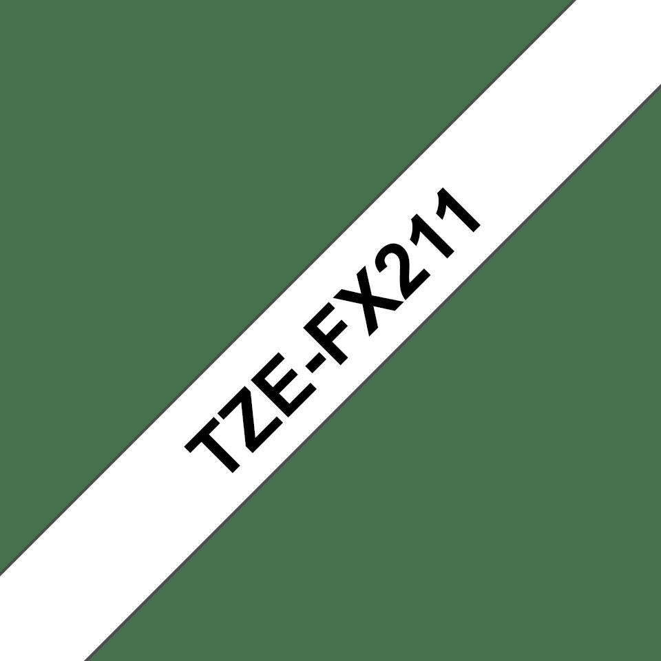 Cassetta nastro per etichettatura originale Brother TZe-FX211 – Nero su bianco, 6 mm di larghezza 3