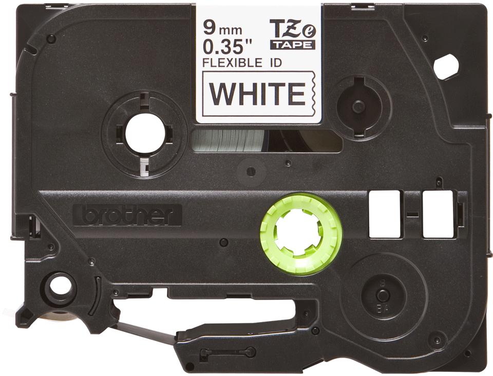 Cassetta nastro per etichettatura originale Brother TZe-FX221 – Nero su bianco, 9 mm di larghezza