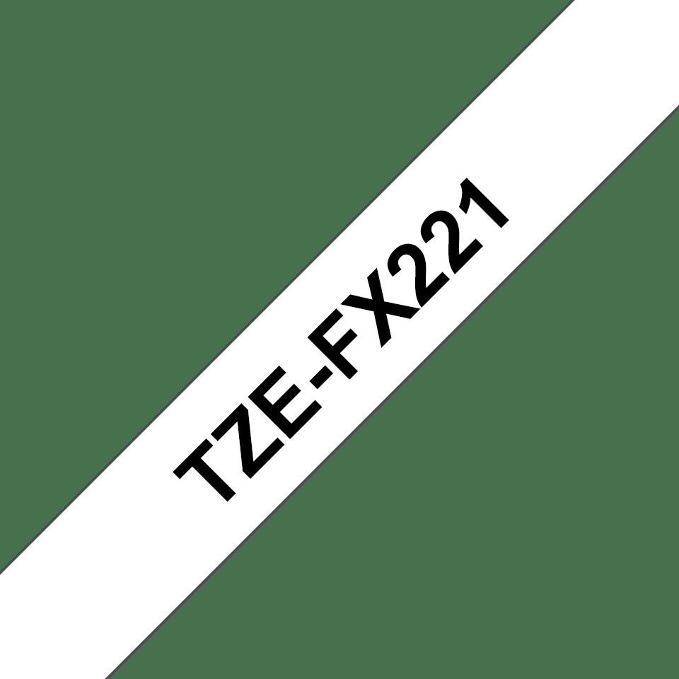 Cassetta nastro per etichettatura originale Brother TZe-FX221 – Nero su bianco, 9 mm di larghezza 3