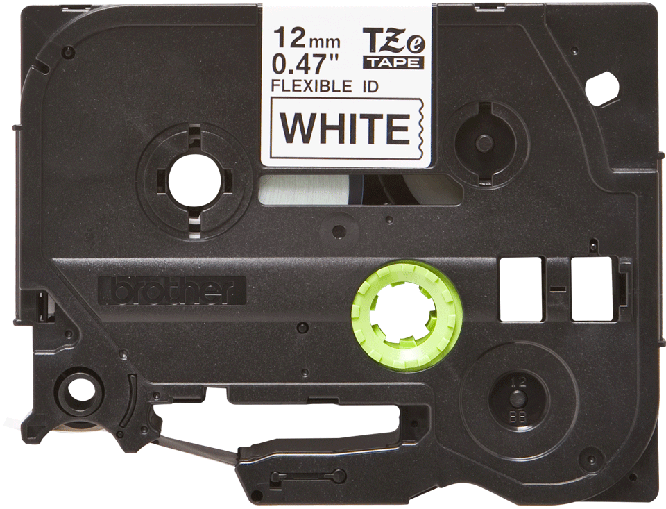Brother TZe-FX231 Nastro flessibile da 12 mm - nero su bianco