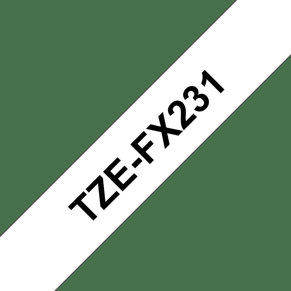 Brother TZe-FX231 Nastro flessibile da 12 mm - nero su bianco 3