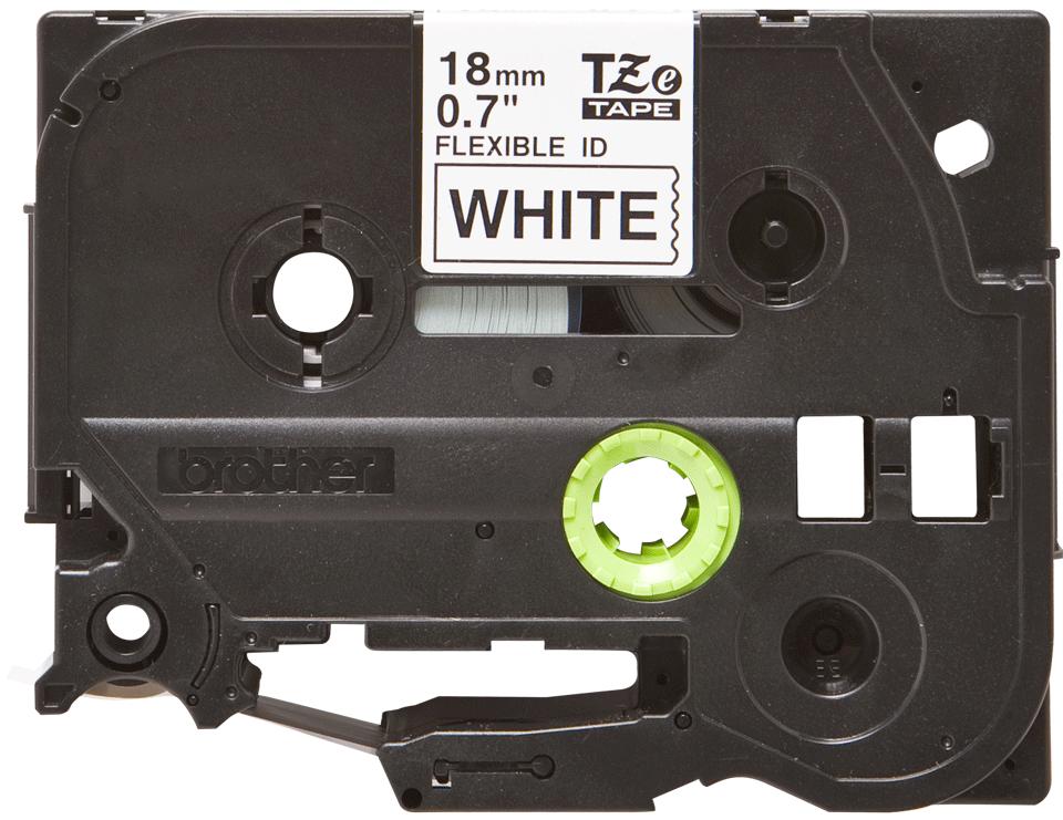 Cassetta nastro per etichettatura originale Brother TZe-FX241 – Nero su bianco, 18 mm di larghezza 0