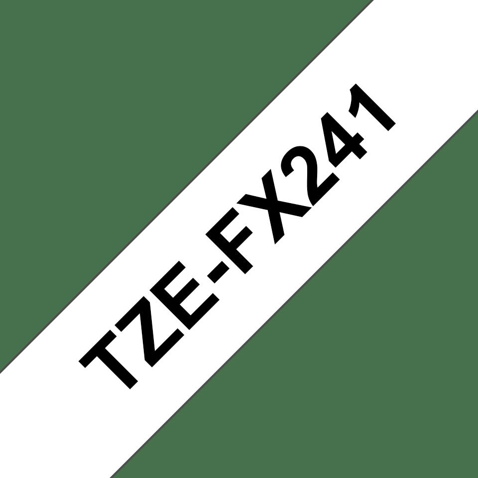 Cassetta nastro per etichettatura originale Brother TZe-FX241 – Nero su bianco, 18 mm di larghezza 3