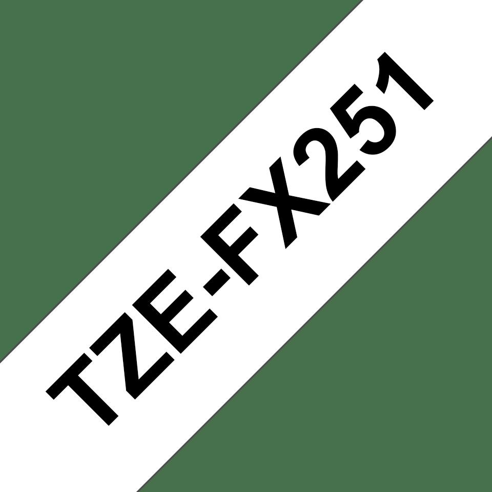 Cassetta nastro per etichettatura originale Brother TZe-FX251 – Nero su bianco, 24 mm di larghezza 3