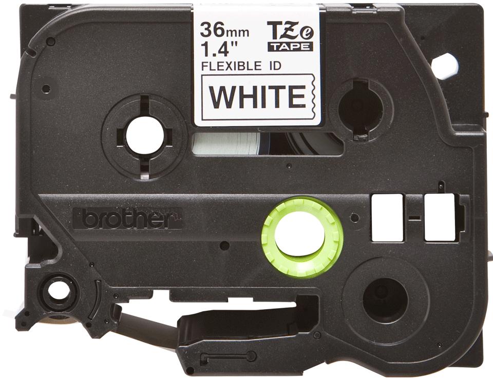 Cassetta nastro per etichettatura originale Brother TZe-FX261 – Nero su bianco, 36 mm di larghezza