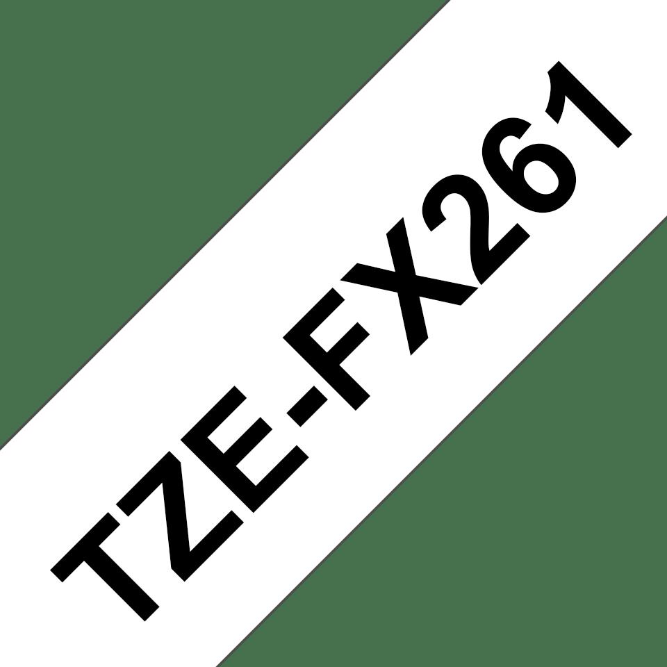 Cassetta nastro per etichettatura originale Brother TZe-FX261 – Nero su bianco, 36 mm di larghezza 3