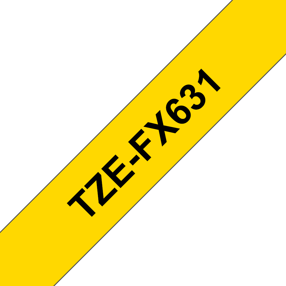Brother TZe-FX631 Nastro originale flessibile da 12 mm - nero su giallo 3