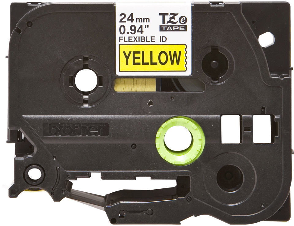 Nastro identificativo flessibile originale Brother TZe-FX651 – Nero su giallo, 24 mm di larghezza