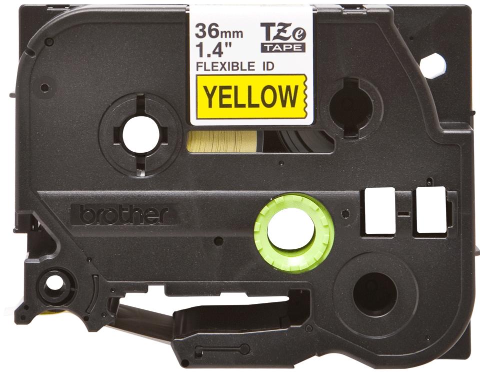Cassetta nastro per etichettatura originale Brother TZe-FX661 – Nero su giallo, 36 mm di larghezza