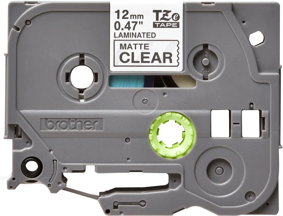 Cassetta nastro per etichettatura originale Brother TZe-M31 – Nero su trasparente opaco, 12 mm di larghezza