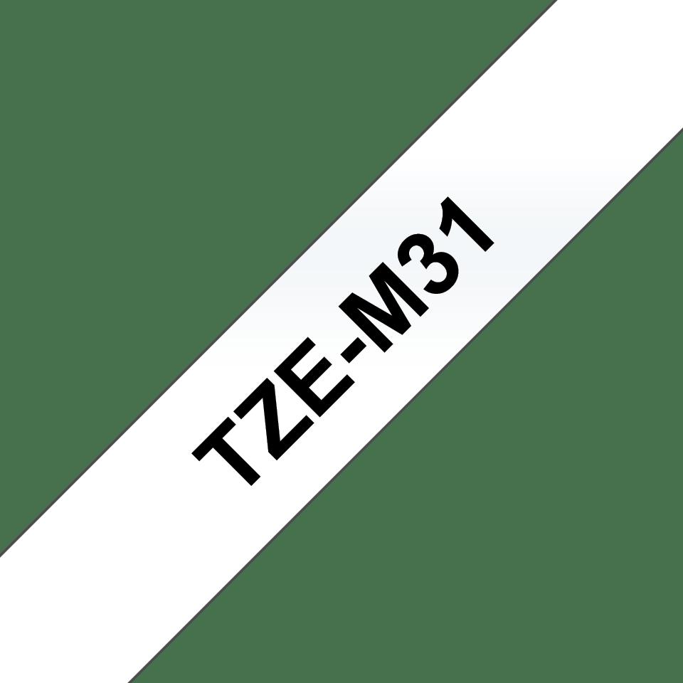 Cassetta nastro per etichettatura originale Brother TZe-M31 – Nero su trasparente opaco, 12 mm di larghezza 3
